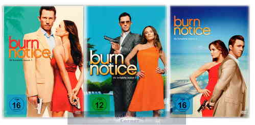 Burn Notice - Die komplette Staffel/Season 1,2+3 [DVD] Set