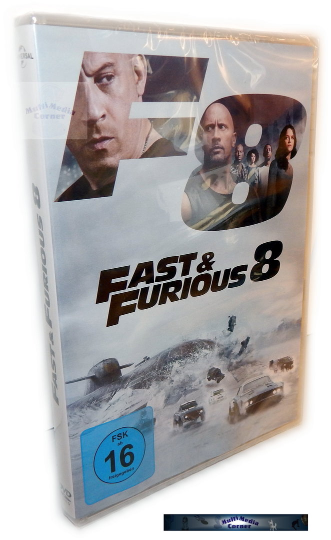 fast and the furious 8 dvd the fate of the furious teil 8. Black Bedroom Furniture Sets. Home Design Ideas