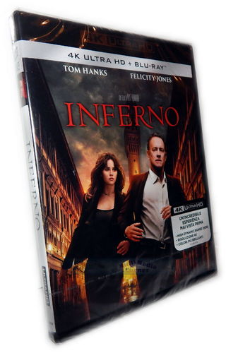 Inferno [4K UHD + Blu-Ray] Tom Hanks, Felicity Jones