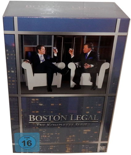 Boston Legal - Die komplette Serie (Staffel/Season 1,2,3,4,5) [DVD] Box