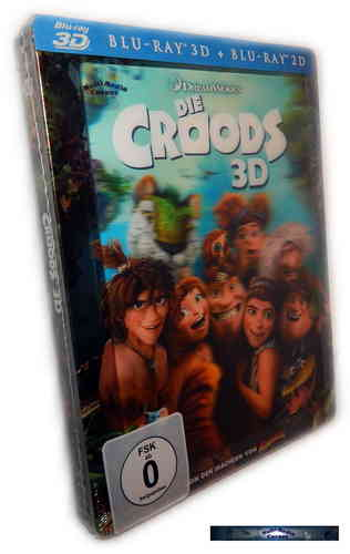 Die Croods 3D (+2D) - limited Steelbook (mit Lenticularcover) [Blu-Ray]