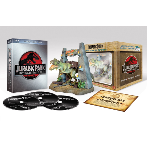 Jurassic Park Ultimate Trilogy, Collectors Edition mit T-Rex[Blu-Ray]