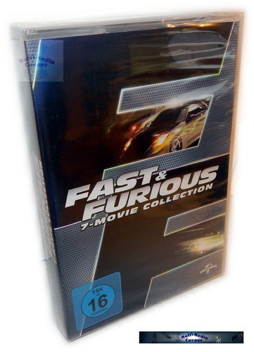 Fast and the Furious 1,2,3,4,5+6 (1-7) Collection [DVD]
