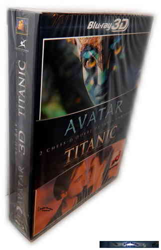 Titanic 3D + Avatar 3D (James Cameron Box-Set) [Blu-Ray] (+2D)