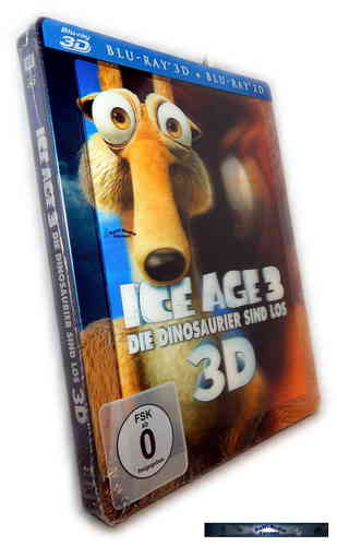 Ice Age 3 3D (+2D) - limited Steelbook mit Lenticularcover [Blu-Ray]