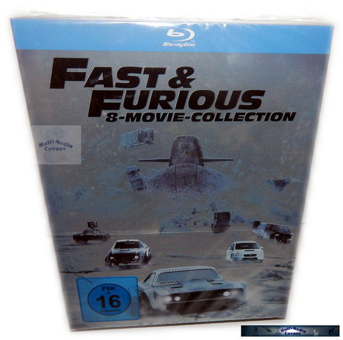 Fast & (and) Furious 1,2,3,4,5,6,7,8 Movie Collection [Blu-Ray]