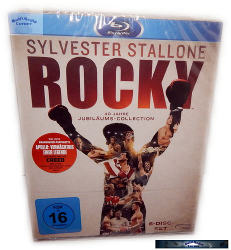 Rocky 1,2,3,4,5 + Rocky Balboa [Blu-Ray] 40 Jahre Jubiläums-Collection