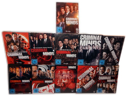 Criminal Minds - komplette Staffel/Season 1,2,3,4,5,6,7,8,9,10,11 [DVD] 61-Disc