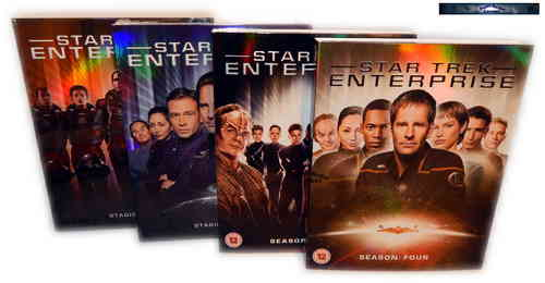 Star Trek Enterprise - Die komplette Serie / Staffel/Season 1,2,3+4 [Blu-Ray] Schuber