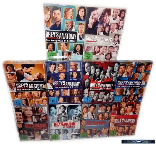 Grey´s (Greys) Anatomy - Die komplette Staffel/Season 1-10 [DVD] 59-Disc