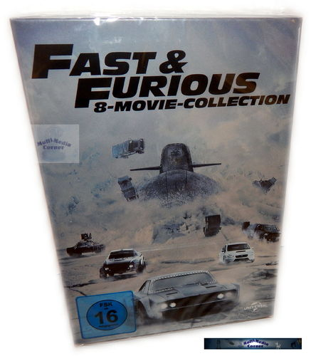 Fast and the Furious - 8 Movie Collection Box-Set [DVD] 1,2,3,4,5,6,7,8