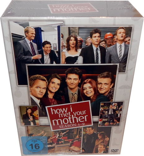 How I met your mother Komplettbox - Staffel/Season 1,2,3,4,5,6,7,8,9 [DVD]