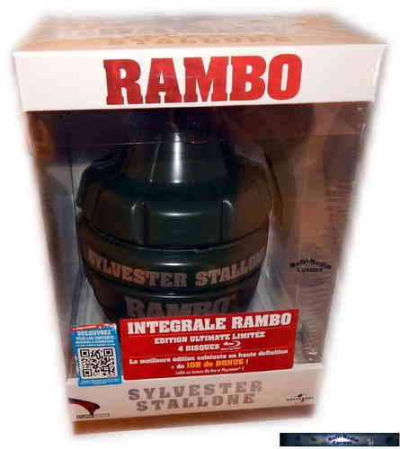Rambo Quadrilogy (Teil 1,2,3,4)- Limited Edition (uncut) [Blu-ray]