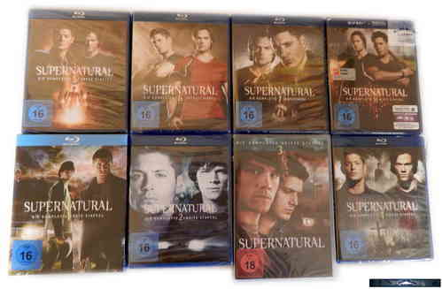 Supernatural - Die komplette Staffel/Season 1,2,3,4,5,6,7,8 [Blu-Ray] (inkl. Staffel 3 DVD)