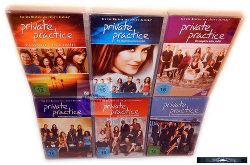Private Practice - Die komplette Serie / Staffel 1,2,3,4,5,6 (1-6) [DVD] 30-Disc