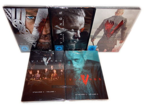 Vikings - Die komplette Staffel/Season 1,2,3,4 [DVD] 15-Disc (inkl. 4.1+4.2)