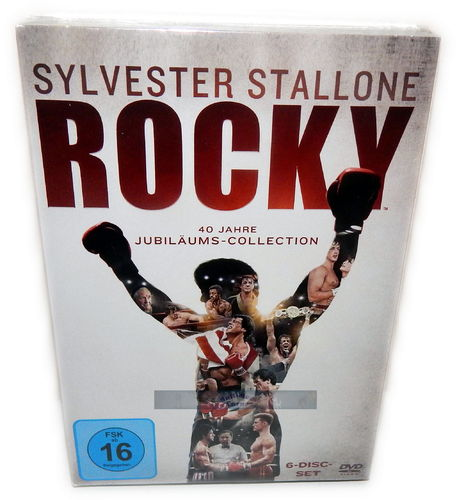 Rocky 1,2,3,4,5 + Rocky Balboa [DVD] 40 Jahre Jubiläums-Collection