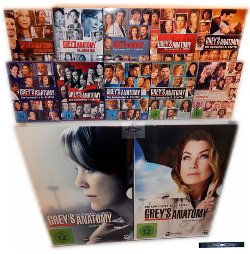 Grey´s (Greys) Anatomy - Die komplette Staffel/Season 1-12 [DVD] 71-Disc