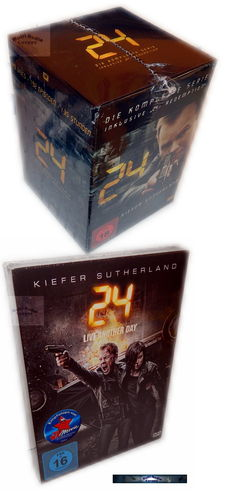 24 - Die komplette Serie [DVD] inkl. 24: Redemption + Live Another Day [53-Disc]