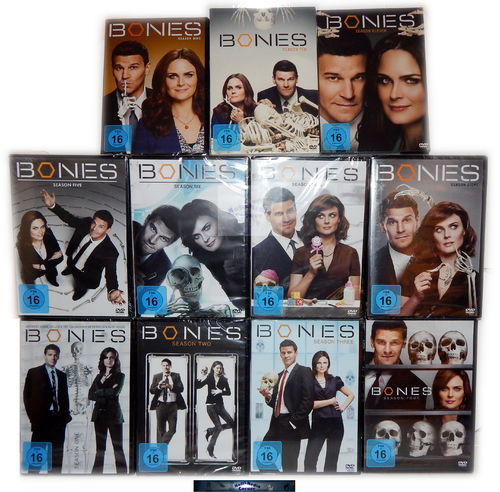 Bones SET - Staffel/Season 1,2,3,4,5,6,7,8,9,10,11 (1-11) [DVD]