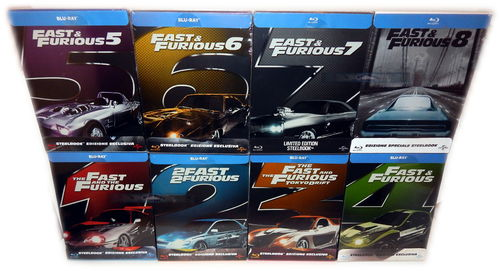 Fast & (and) Furious 1,2,3,4,5,6,7,8.[Blu-Ray] limited Steelbook Set (Deutscher Ton)