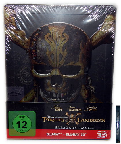 Pirates of the Caribbean (5) - Salazars Rache [Blu-ray] 3D (+2D) limited Steelbook