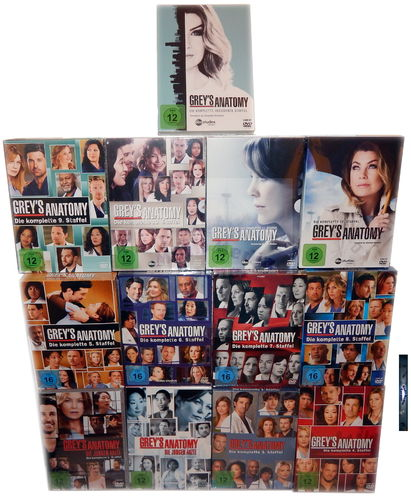 Grey´s (Greys) Anatomy - Die komplette Staffel/Season 1-13 [DVD] 77-Disc