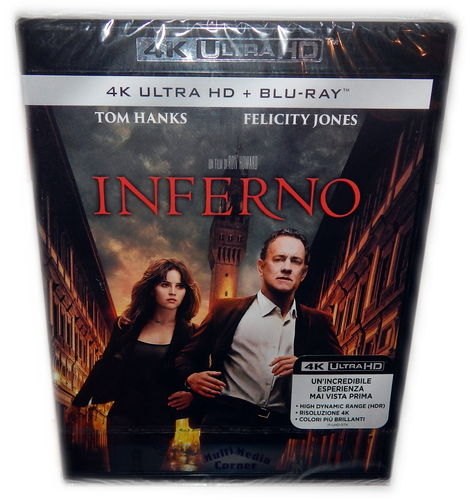 Inferno [4K Ultra HD + Blu-Ray] Tom Hanks, Felicity Jones (Deutscher Ton)