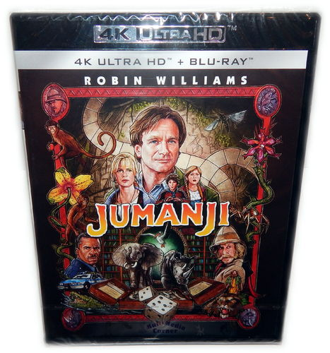 Jumanji [4K UHD + Blu-Ray] Robin Williams, Kirsten Dunst (Deutscher Ton)