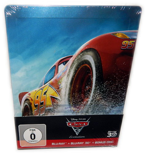 Cars 3: Evolution [Blu-Ray] 3D (+2D) limited Steelbook (3-Disc)