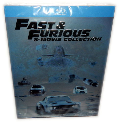 Fast & (and) Furious 1,2,3,4,5,6,7,8 Movie Collection [Blu-Ray] 1-5 & 7+8 Deutsch