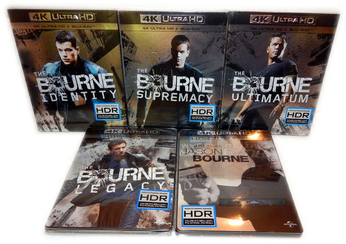 Jason Bourne (Teil 1,2,3,4,5)[4K UHD+Blu-Ray] 4K Ultra HD Set (Deutscher Ton)