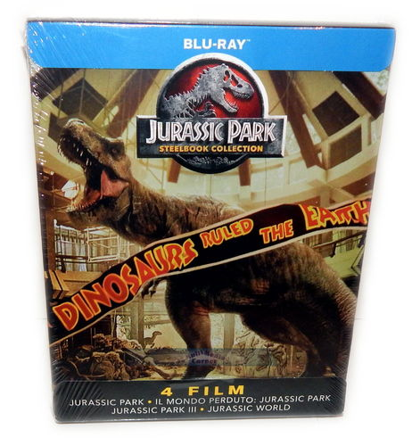 Jurassic World & Jurassic Park 1,2,3 [Blu-Ray] 4-Disc limited Steelbook