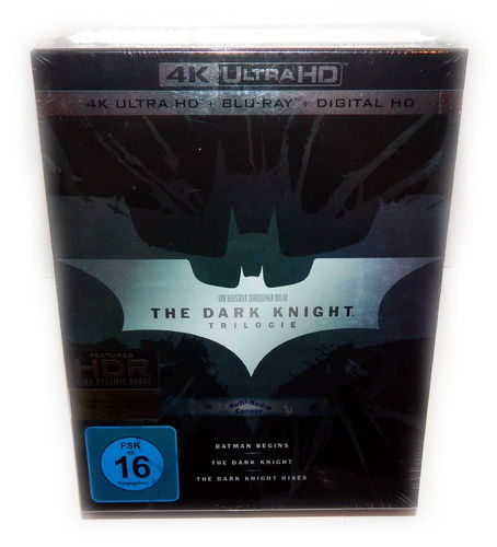 The Dark Knight Trilogie/Trilogy [4K UHD+Blu-Ray] 9-Disc Box-Set inkl. UV-Copy