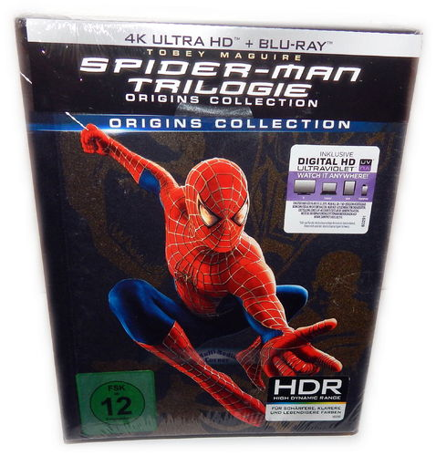 Spider-Man Trilogie [4K UHD+Blu-Ray] 1,2,3 Origins Collection 7-Disc