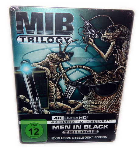 Men in Black - MIB Trilogie/Trilogy (1-3) [4K UHD+Blu-Ray] limited Steelbook