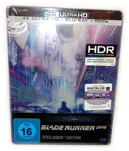 Blade Runner 2049 [4K UHD+Blu-Ray+Bonus+UV-Copy] 3-Disc limited Steelbook