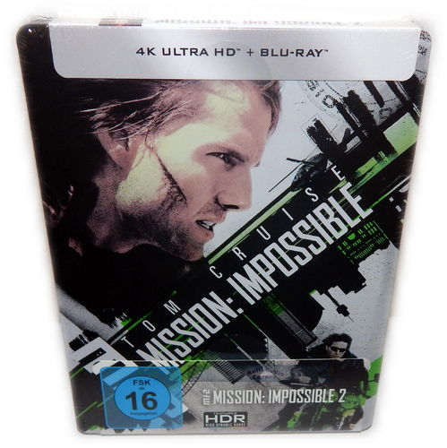 Mission Impossible 2 [4K UHD+Blu-Ray] (MI:2) 2-Disc limited Steelbook