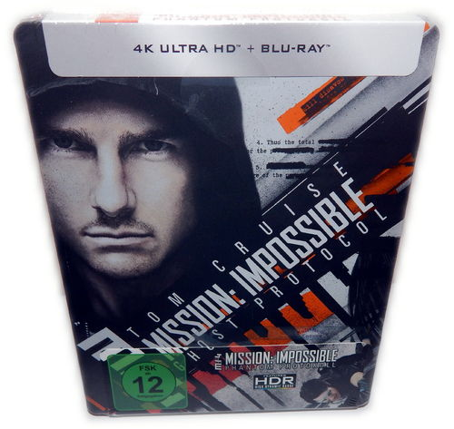 Mission Impossible Phantom Protokoll [4K UHD+Blu-Ray] (MI:4) limited Steelbook