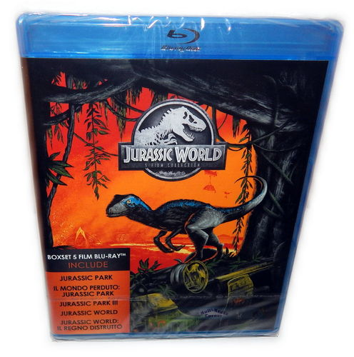 Jurassic 5 Movie Collection [Blu-Ray] 5-Disc Box (Deutscher Ton) inkl. Jurassic World 2