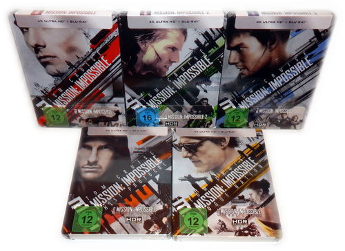 Mission Impossible 1,2,3,4,5 (1-5)[4K UHD+Blu-Ray] 10-Disc Steelbook Set
