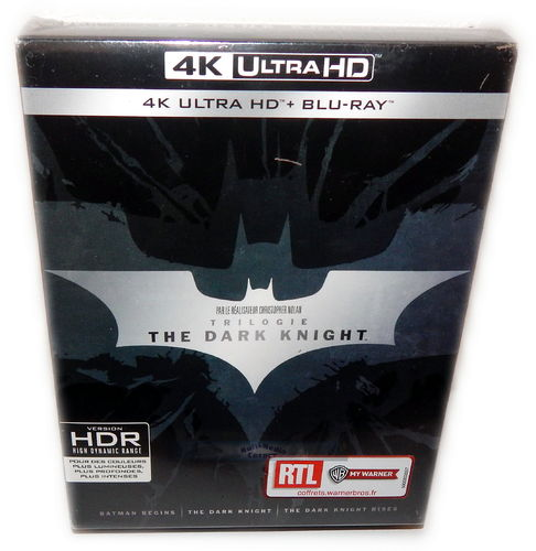 The Dark Knight Trilogie/Trilogy [4K UHD+Blu-Ray] 9-Disc Box-Set (Deutscher Ton)