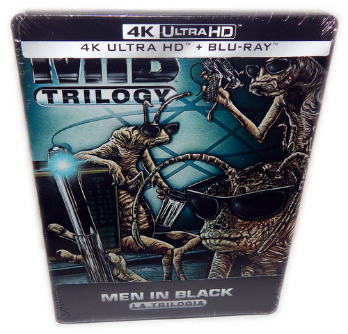 Men in Black - MIB Trilogie/Trilogy (1,2,3) [4K UHD] Steelbook (Deutscher Ton)