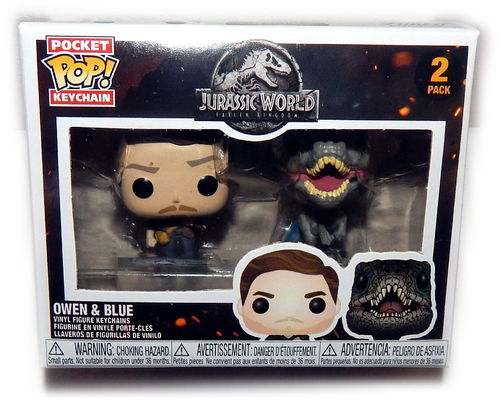 Funko Pop Art Figuren (Owen & Blue) Jurassic World Das gefallene Königreich