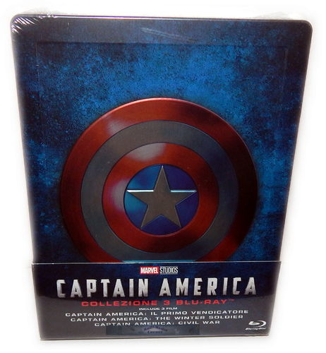 Captain America Trilogie/Trilogy 1 2 3 [Blu-Ray] limited Steelbook