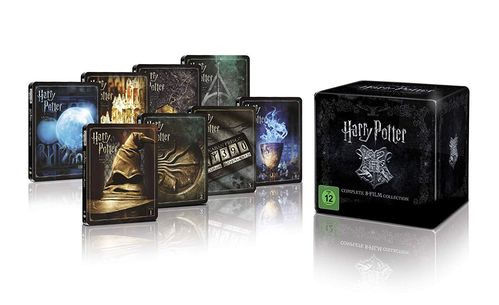 Harry Potter STEELBOOK Komplettbox [4K UHD + Blu-Ray] Teil 1-7.2