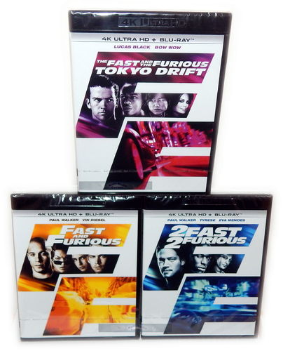 Fast and (&) Furious 1,2,3 [4K Ultra HD+Blu-Ray] 6-Disc Set (Deutscher Ton)