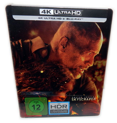 Skyscraper [4K Ultra HD+Blu-Ray] (Dwayne Johnson) Steelbook