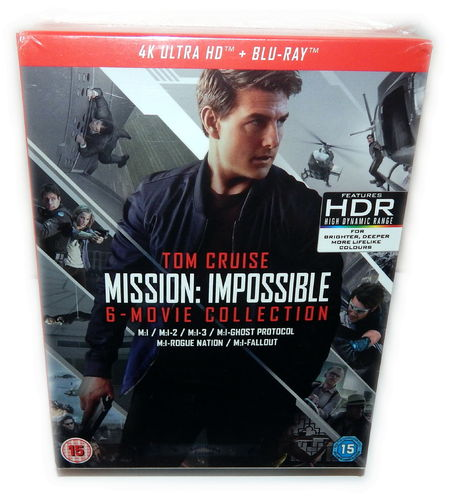 Mission Impossible 1,2,3,4,5,6 [4K Ultra HD+Blu-Ray] 13-Disc Box-Set