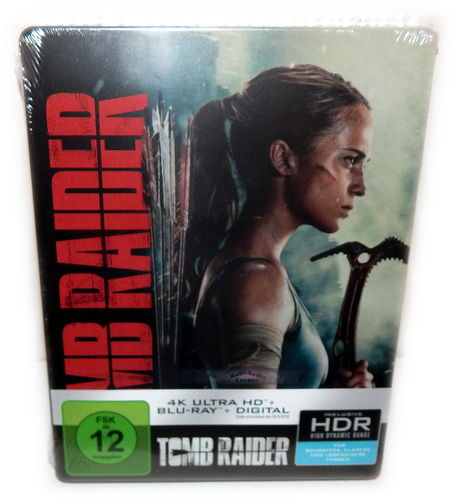 Tomb Raider [4K Ultra HD+Blu-Ray] 2-Disc Steelbook (Alicia Vikander)